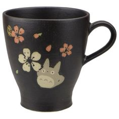 Mug Cup - 260cc - Porcelain - Mino Yaki - made in Japan - Totoro & Sakura - Ghibli - 2015 (new)