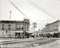 Historic Pictures of El Paso..John Wesley Hardin Gunfighter/Lawyer had his office in the corner building on left.