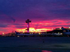 12. Jfk airport... #sunset  there's always people flying in and out of NYC