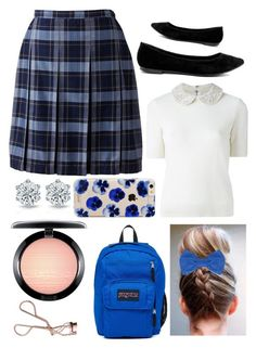 """Prep School Blue"" by pinkstars6 ❤ liked on Polyvore featuring Lands' End, LULUS, WithChic, Alice + Olivia, Missoni, JanSport, Sonix, MAC Cosmetics, Charlotte Tilbury and school"