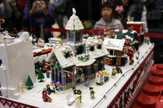 Lego Christmas Village at Times Square (a)