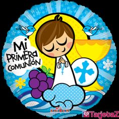MI PRIMERA COMUNIÓN Communion Centerpieces, Diy Angels, Origami And Quilling, Catholic Crafts, Sunday School Crafts, First Holy Communion, Anime Figures, Copics, Cute Illustration
