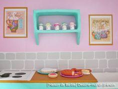 Cuisine Barbie | Maison De Barbie 5 Les Meubles Cuisine Et Salon Diy Jeux