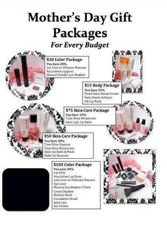 Message me to order ypir Mother's Day package before Friday and recieve $10 off your next purchase. Go to www.marykay.com for color choices. Text, call or email me,to place the order. Cbjohnson0924@gmail.com 228-365-9091