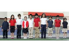Schools and parents cite advantages of school uniforms.  1. Regular clothing can be a distraction in the classroom.  2. Uniforms level the playing field for low-income families who can't afford brand-name clothes.  3. Uniforms result in less bullying and teasing.  4. Uniforms are less expensive than jeans and designer clothing.  5. Uniforms make students easy to identify, improving campus safety.