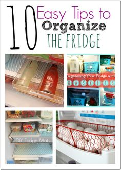 10 Easy Tips to Organize the fridge, if you're ready for spring cleaning we have you covered! Check out these great ideas for the kitchen and fridge!