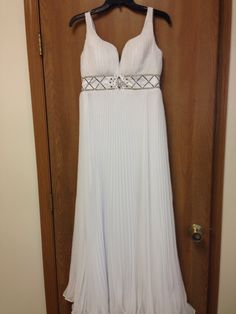 76d1c18b9c Hand pleated chiffon and a sweep train would make this perfect for a  destination or outdoor wedding! Size and can be altered up or down.