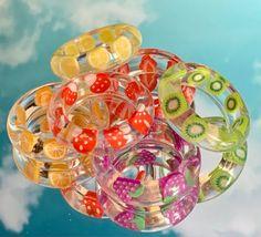 Funky Jewelry, Hand Jewelry, Cute Jewelry, Resin Jewelry, Handmade Jewelry, Jewlery, Resin Crafts, Resin Art, Pulseras Kandi