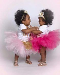 Baby girls in tutus. Cute Baby Girl, Cute Babies, Baby Kids, Beautiful Black Babies, Beautiful Children, Ballerina Tutu, Future Daughter, Mixed Babies, Brown Babies