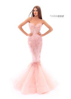 Pink mermaid gown by Tarik Ediz