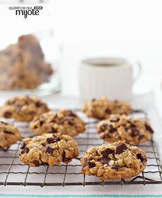 Biscuits à l'avoine, à l'arachide et aux morceaux de chocolat #recette