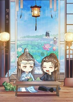 The Untamed - Escenas del Live Action (The Untamed) - Página 2 - Wattpad Anime Chibi, Manga Anime, Anime Art, Dramas, Chibi Wallpaper, Cute Chibi, Cute Cartoon Wallpapers, Cute Illustration, Chinese Art