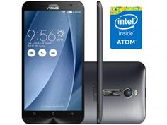 "Smartphone Asus ZenFone 2 32GB Prata Dual Chip 4G - Câm. 13MP + Selfie 5MP Tela 5.5"" Full HD Quad Core"