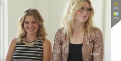 Candace Cameron Bure on The Girls With Glasses show. Are you watching her on Dancing with the Stars? She's doing so great.