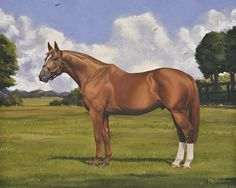 Curlin Painting by Nick Martinez