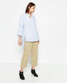 Image 1 of LONG ASYMMETRIC SHIRT from Zara