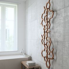 Terma Hex bright copper designer radiator 1220 x 486 Wall Radiators, Decorative Radiators, Bathroom Radiators, Vertical Radiators, Modern Radiators, Kitchen Radiators, Copper Bathroom, Modern Bathroom, Loft Bathroom