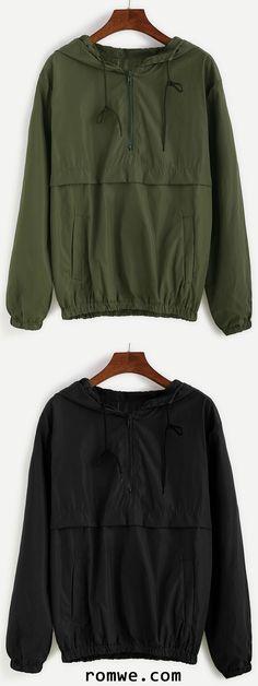 Army Green Hooded Zipper Sweatshirt Fall Outfits, Summer Outfits, Casual Outfits, Cute Outfits, Teen Fashion, Winter Fashion, Fashion Outfits, My Unique Style, My Style