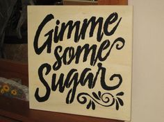 Gimme some Sugar.....handmade wall by hilltopprims on Etsy