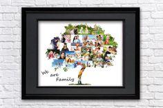 Family tree photo collage Family tree wall art Family tree Fathers Day Art, Fathers Day Photo, Gifts For Father, Family Tree Photo, Family Tree Wall, We Are Family, Personalized Gifts, Collage, Art Prints