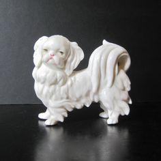 Vintage Blanc de Chine Pekingese Dog by Hallingtons on Etsy, $57.95
