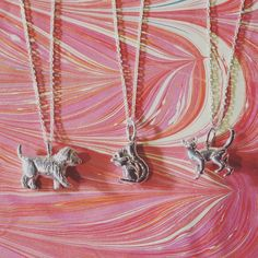 We are absolutely loving the new batch of sterling silver jewellery just arrived from CME especially this trio of furry friends! Silver Jewellery, Sterling Silver Jewelry, Finsbury Park, Cockapoo, Squirrel, Arrow Necklace, Cat, Friends, Pretty