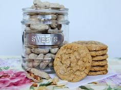 Peanut Butter Cookies  (3 ingredients!)