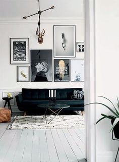 The simple white floor lets the decor do all the shouting.