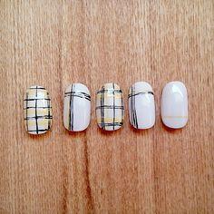 "yellow/black plaid nails. iggy ""fancy"" look-alike"