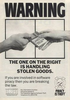 Piracy is theft' 1989 ad