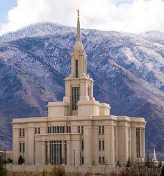 Payson Utah LDS (Mormon) Temple Construction Photographs