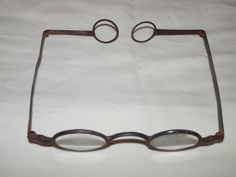 18th century turn-pin spectacles With green lenses The ...