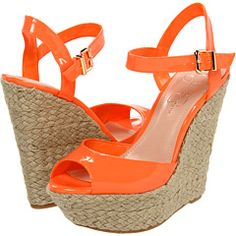 Kind of in love with these bright neon wedges from Jessica Simpson