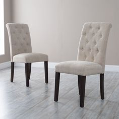 Decorate your house using parsons chairs Amazing Morgana Tufted Parsons Dining Chair - Set of 2 - Dining Chairs parsons dining chairs Furniture, Dining Room Design, Dining Room Chairs, Upholstered Dining Chairs, Tufted Dining Room Chair, Dining Room Sets, Dining Chairs, Dining Room Console, Parsons Chairs
