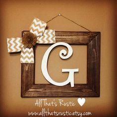 Hey, I found this really awesome Etsy listing at https://www.etsy.com/listing/262954634/rustic-initial-frame-rustic-home-decor