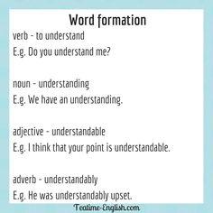 English Grammar Book Pdf, English Verbs, Grammar Tips, Grammar Rules, Efl Teaching, Teaching Resources, Word Formation, Word Building, Ayrton Senna