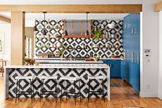 Step inside actress Hilary Duff's bright and bold home in California  #interior #design #home #decor #idea #inspiration #cozy #style #room #kitchen #eclectic #modern #contemporary #tiles #tile
