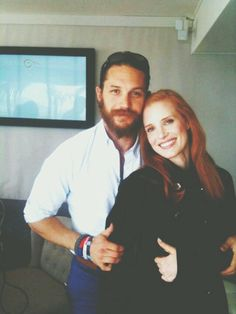 My two favorite people... Tom Hardy & Jessica.Chastain.