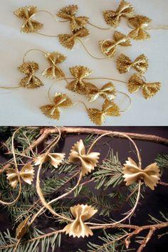 ▷ 1001 + Christmas decorations ideas to make at home Homemade Christmas, Kids Christmas, Christmas Wreaths, Christmas Crafts, Decoracion Navidad Diy, Diy Natal, Pasta Crafts, Diy And Crafts, Crafts For Kids