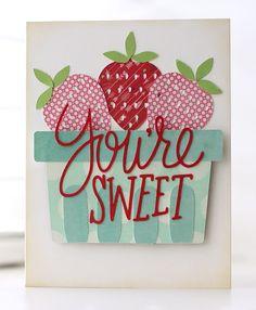 Silhouette America Blog   Berry Sweet Card