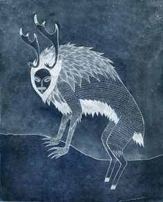 sigridrodli:  Another one of my monsters from my ABC. I'm posting the ones I like the best. This is the Ijiraq.