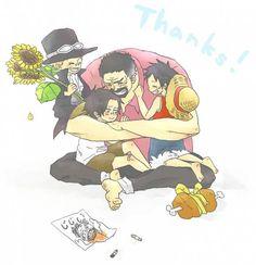 Sabo - Ace - Garp - Luffy