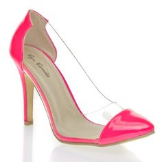 Eye Candy Womens Closed Pointy Toe Clear Translucent High Heel Stiletto Pumps Sandal Shoes, Neon Hot Pink Patent Leather, 5.5 B (M) US V-Luxury http://www.amazon.com/dp/B00IKCO2IG/ref=cm_sw_r_pi_dp_K6QVtb1GY6E1EE0T