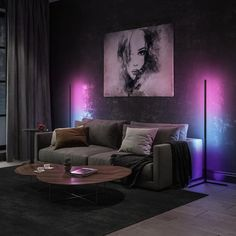 Give your Home the color it deserves with the Apōllō Floor Lamp 🎨  The most Minimal, Modern and unique lamp of 2020.  Features:  ▪️300+ Colors  ▪️Customizable Lighting Scenes  ▪️RGB Remote Control  Get yours now at www.casadilumo.com