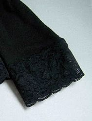 Use stretch lace to lengthen t-shirt sleeves