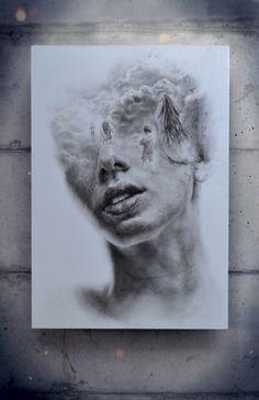 """Amazing paintings from painter, artist Igor Dobrowolski at http://www.igordobrowolski.com/ """"Does It Hurt Anymore?"""", oil on plywood, 165 x 115 x 7cm, ©Igor Dobrowolski"""