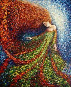 Mosaic art inspired by nature and myth Mosaic Crafts, Mosaic Projects, Mosaic Glass, Glass Art, Stained Glass, Sea Glass, Arte Fashion, Mosaic Artwork, Mosaic Mirrors