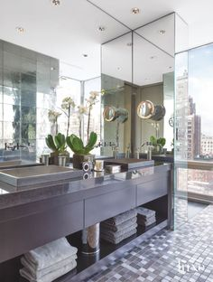 Grab some scented candles and enjoy serenity in these ultra luxurious bathrooms.