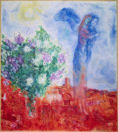 """Chagall, """"Couple above Saint-Paul"""""""