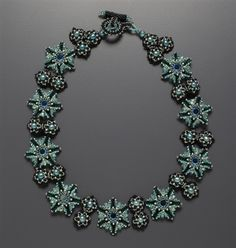 Renaissance Revival Necklace Kit, teal & black by: Laura McCabe